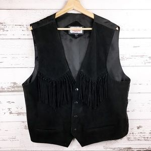 Vintage MINNETONKA Suede Leather Boho Fringe Vest